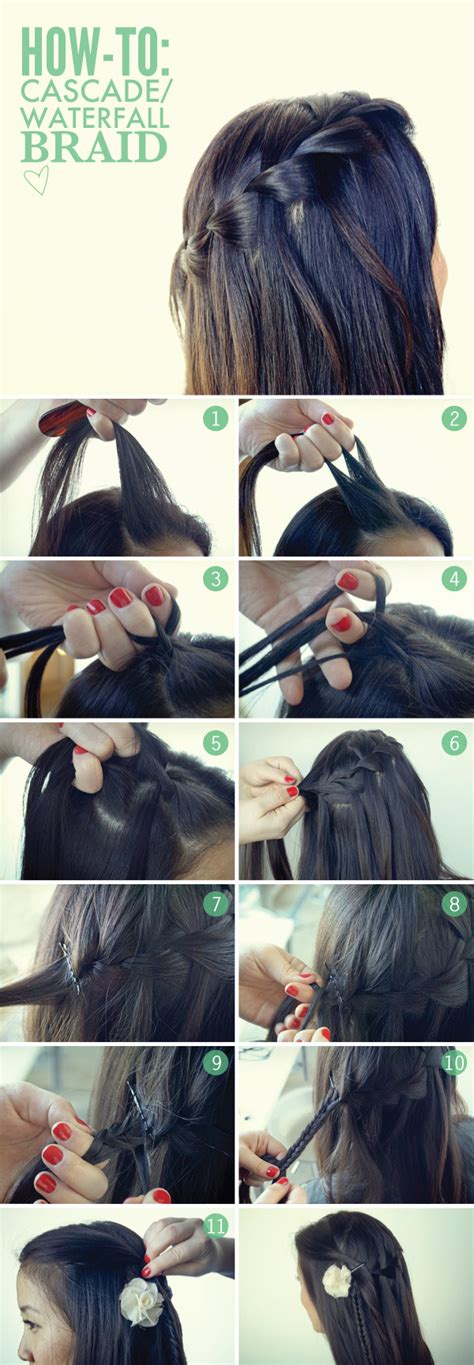 waterfalls cascade braids step by step how to do a waterfall braid and cascade braid beautylish