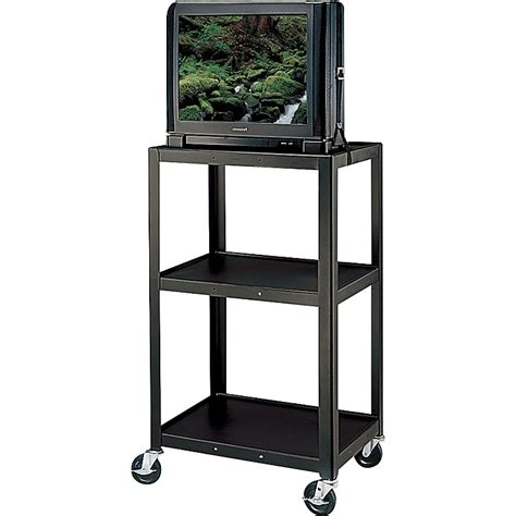 Three Shelf Cart by H Wilson Metal 42 Quot 3 Shelf Cart Black Musician S Friend