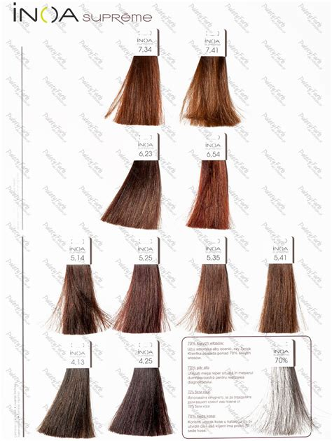loreal inoa supreme colour chart inoa supreme 1 copper hair hair hair color ve