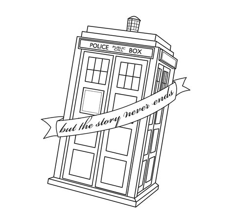 tardis tattoo design tardis but the story never ends by thira evenstar