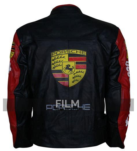 Porsche Lederjacke by Porsche 930 Turbo Patches Black Leather Jacket