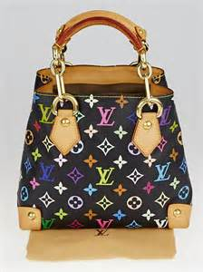 Audra Handbag by Louis Vuitton Black Monogram Multicolore Audra Bag Yoogi