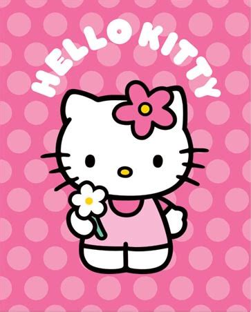 Hellokitty Pink lghwm1063 pink and spotty hello mini poster