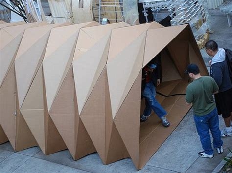 How To Make A Temporary With Regular Paper - architecture student designs housing shelter with help of