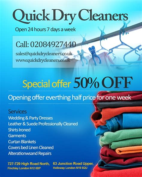 Dry Cleaning Flyer Template
