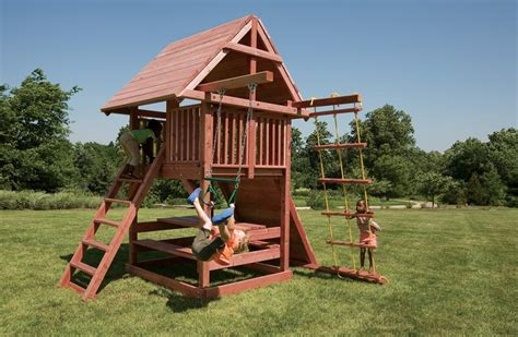 Playsets For Small Backyards by Best Small Swing Sets For Smaller Backyards Juggling Act