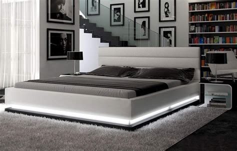 infinity bed infinity contemporary white platform bed w lights