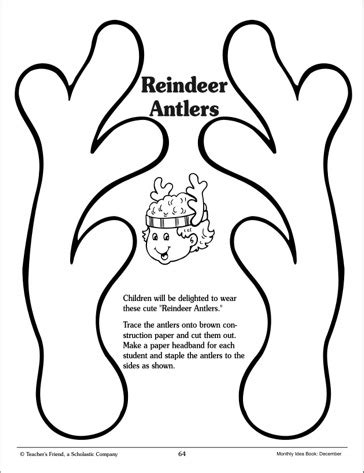 reindeer template printable reindeer antlers template invitation template