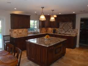 Ideas For Kitchen Backsplash With Granite Countertops insurance fire amp water restorations kitchen remodel in