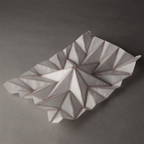 Paper Folding 3d - hydro fold by christophe guberan self folding inkjet