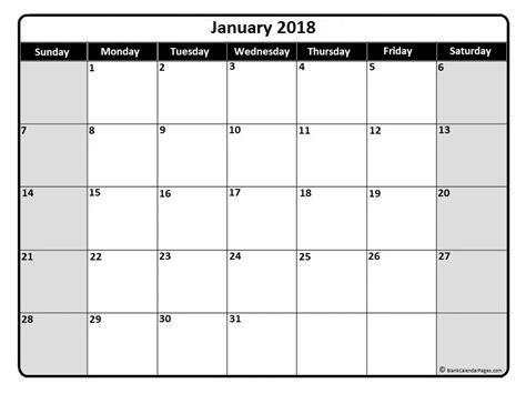 printable calendar page january 2018 january 2018 calendar january 2018 calendar printable