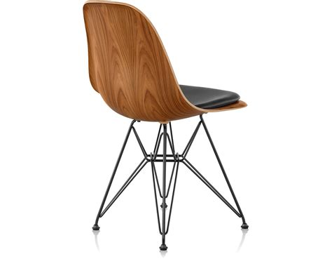 eames chair side table eames 174 wire base wood side chair with seat pad