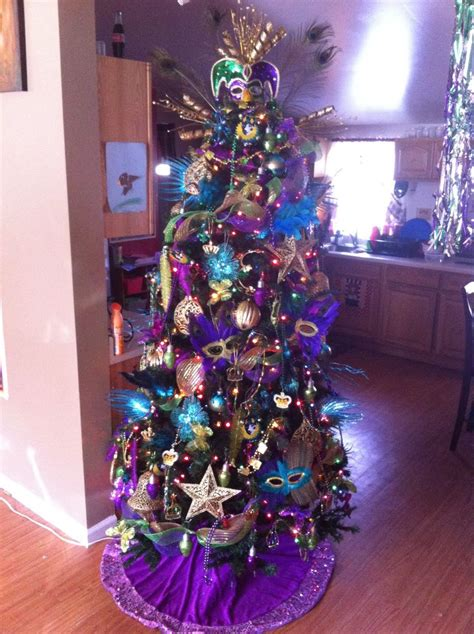 mardi gras christmas tree theme christmas trees