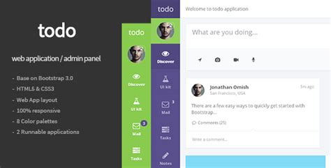 Todo Web Application And Admin Panel Template By Flatfull Themeforest Web Application Ui Design Templates Free