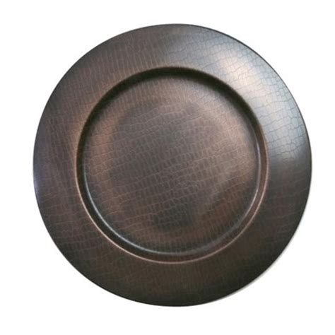 rustic charger plates chargeit stainless steel charger plate set of 2