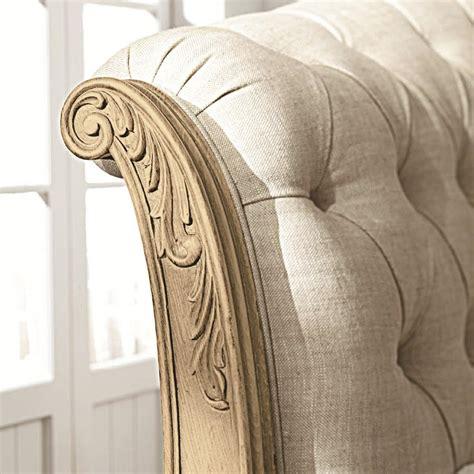 sleigh headboard king king sleigh bed with linen tufted headboard and footboard