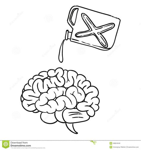 doodle brain brain doodle stock illustration image 49824049