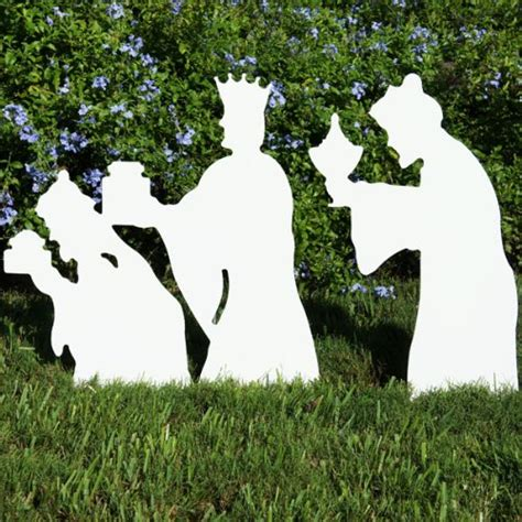 nativity scene yard silhouettes displays christmas wikii