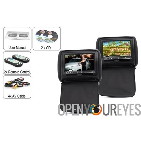 Auto Dvd Player 9 Zoll by 9 Zoll Auto Kopfst 252 Tze Monitor Mit Dvd Player Paar 800