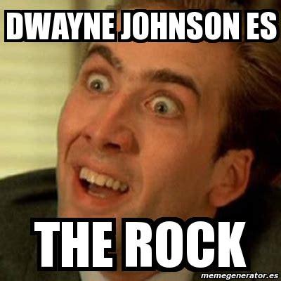 Meme Generator The Rock - meme no me digas dwayne johnson es the rock 4263643