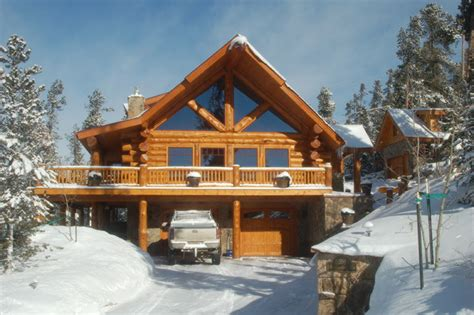 Dining Room Decorating Ideas On A Budget mountain log home in silverthorne rustic exterior