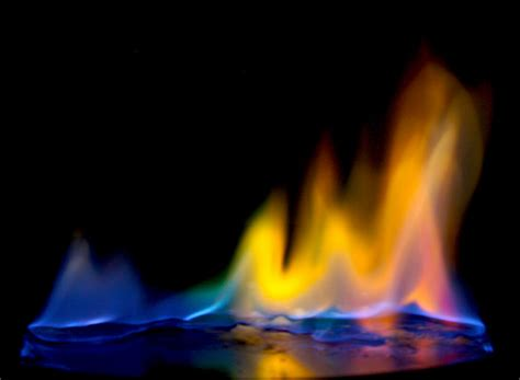 color flames safe method of doing the colored flames chemistry