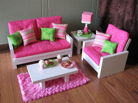 how to make a american girl doll couch 18 doll furniture american girl sized living by