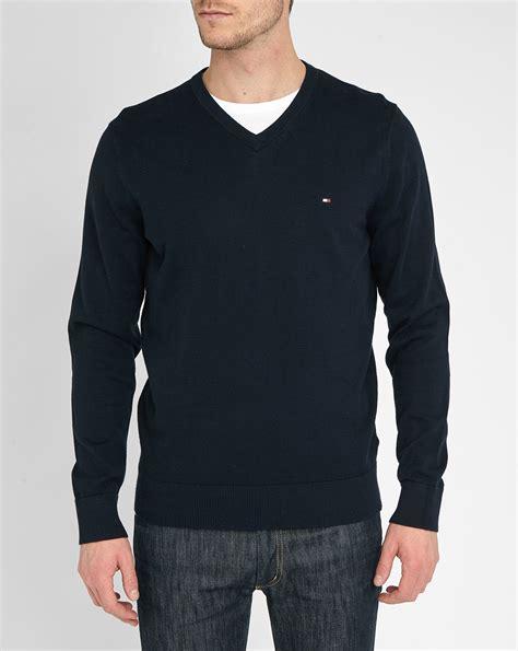 Sweater Temmy Navy hilfiger v neck sweater gray cardigan sweater