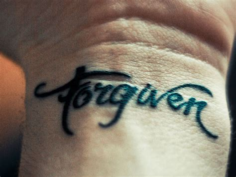 forgiven tattoo 55 attractive wording on wrists