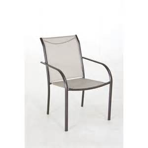 patio dining chairs shop garden treasures bronze sling seat steel stackable