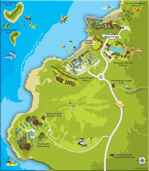 damai resort map kuching sarawak kuching division division district