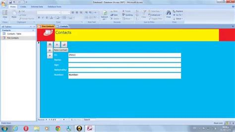 how to make a software how to make a program on ms access lesson 1