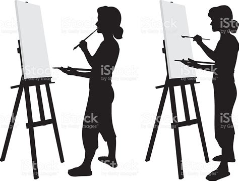 artists clipart artist silhouette stock vector more images of