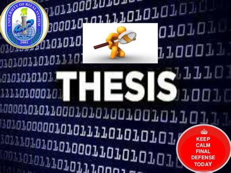 thesis faculty advisor defended thesis