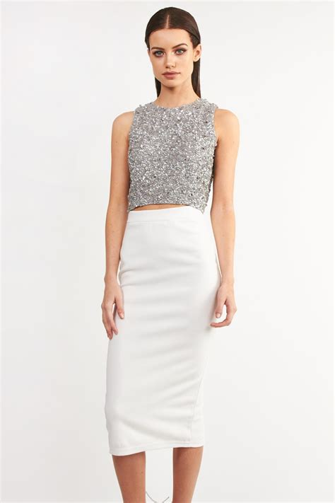 lace beads picasso grey embellished dress party dresses