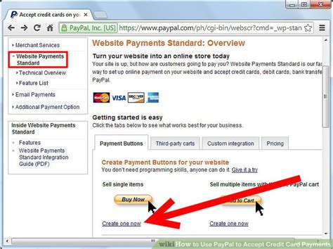 Paypal Business Account Accept Credit Card how to use paypal to accept credit card payments 6 steps