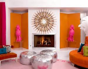 Jonathan Adler Sofa by Pink And Orange Living Room Design Ideas Amp Pictures