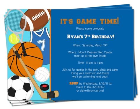 Free Printable Sports Birthday Invitations Free Invitation Templates Drevio Free Printable Sports Birthday Invitation Templates