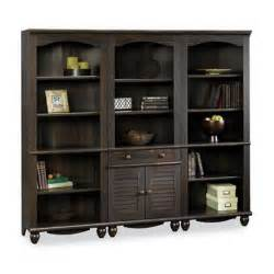 Wall Bookcase library wall bookcase in antiqued paint 401632 401633 pkg