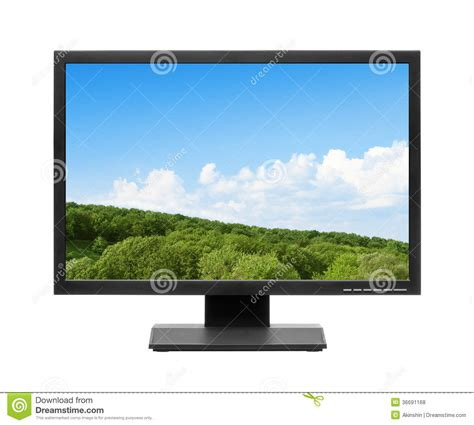 display tv computer display or lcd tv royalty free stock photos