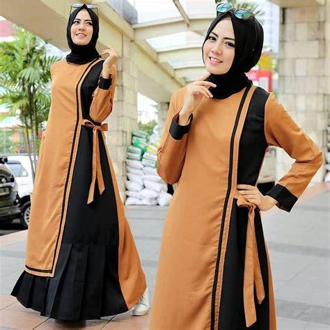 Dress Wanita Maxi Anastasya informasi harga baju muslim modern 2018 cari banding