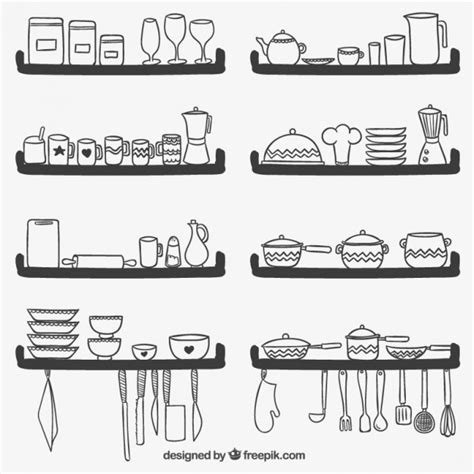 adorable download kitchen remodel tools dissland info free cute kitchen utensils on shelves vector free download