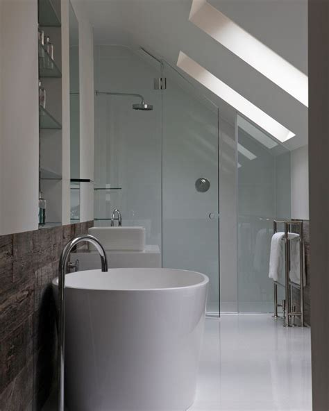 Sloped Ceiling Shower 1000 ideas about attic bathroom on small