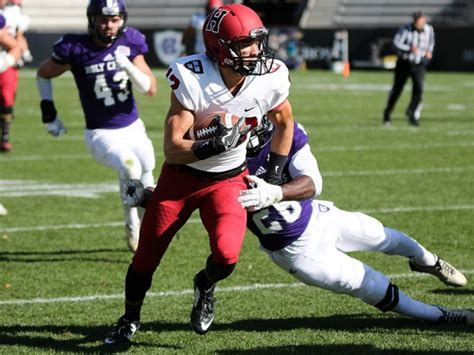 Senior wide receiver joe foster hauled in four receptions including