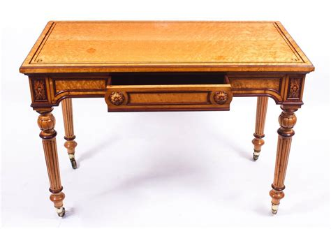 antique gillows style bird s eye maple writing table desk