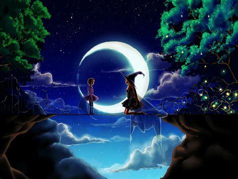 magic world fantasy witch anime wallpaper