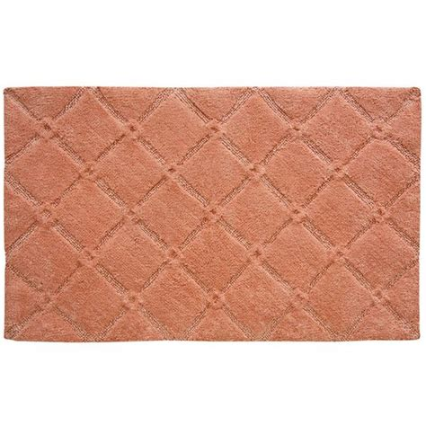 coral color bathroom rugs trellis bath rug color burnt coral 35 liked on polyvore featuring home bed