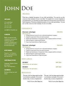 Resume Template Doc by Free Creative Resume Cv Template 547 To 553 Free Cv Template Dot Org