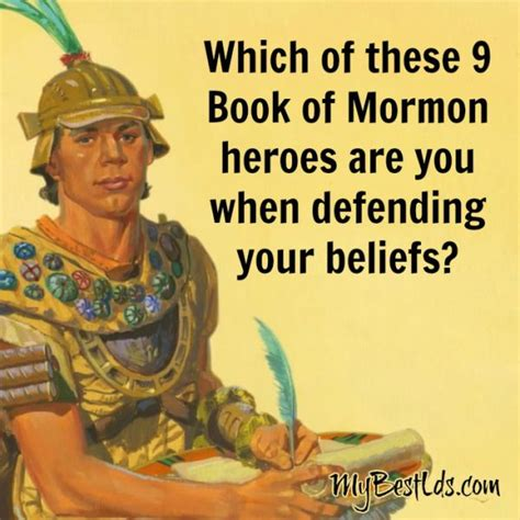 book of mormon heroes pictures which of these 9 book of mormon heroes are you when