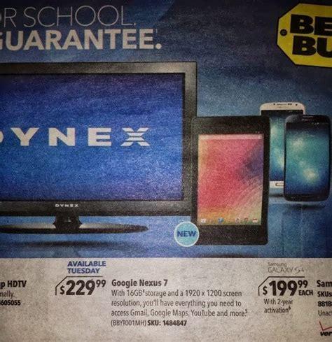 nexus 7 best buy new nexus 7 to cost 230 according to leaked best buy ad